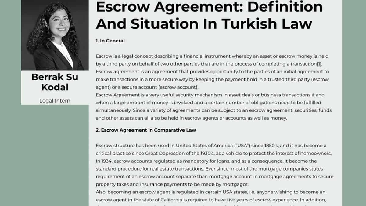 escrow-agreement-definition-and-situation-in-turkish-law