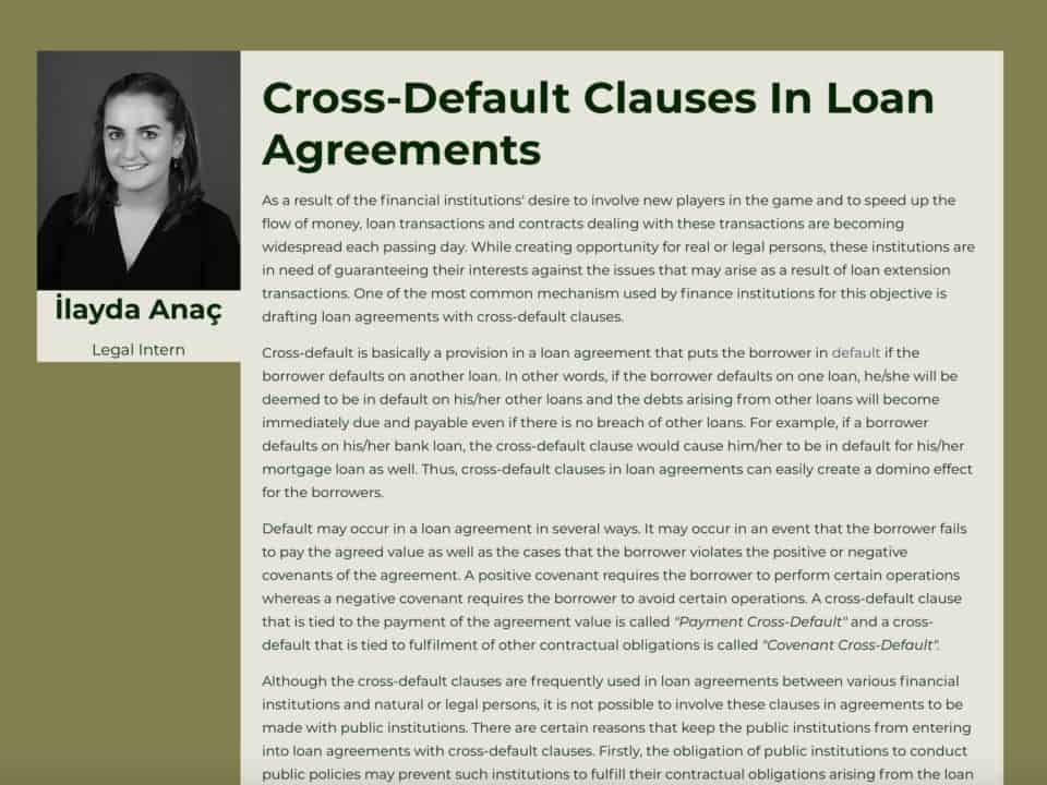 Cross-Default Clauses In Loan Agreements