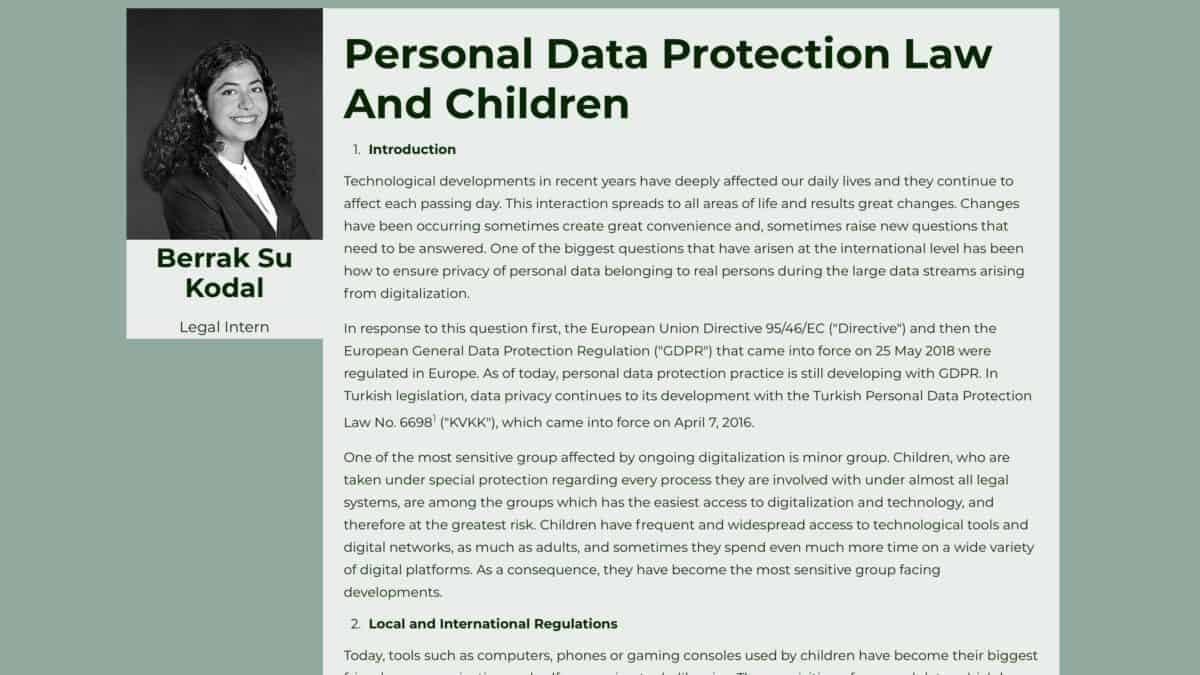 Personal Data Protection Law And Children
