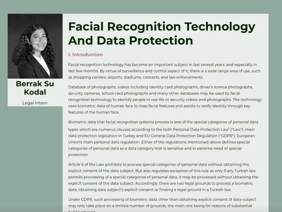 Facial Recognition Technology And Data Protection