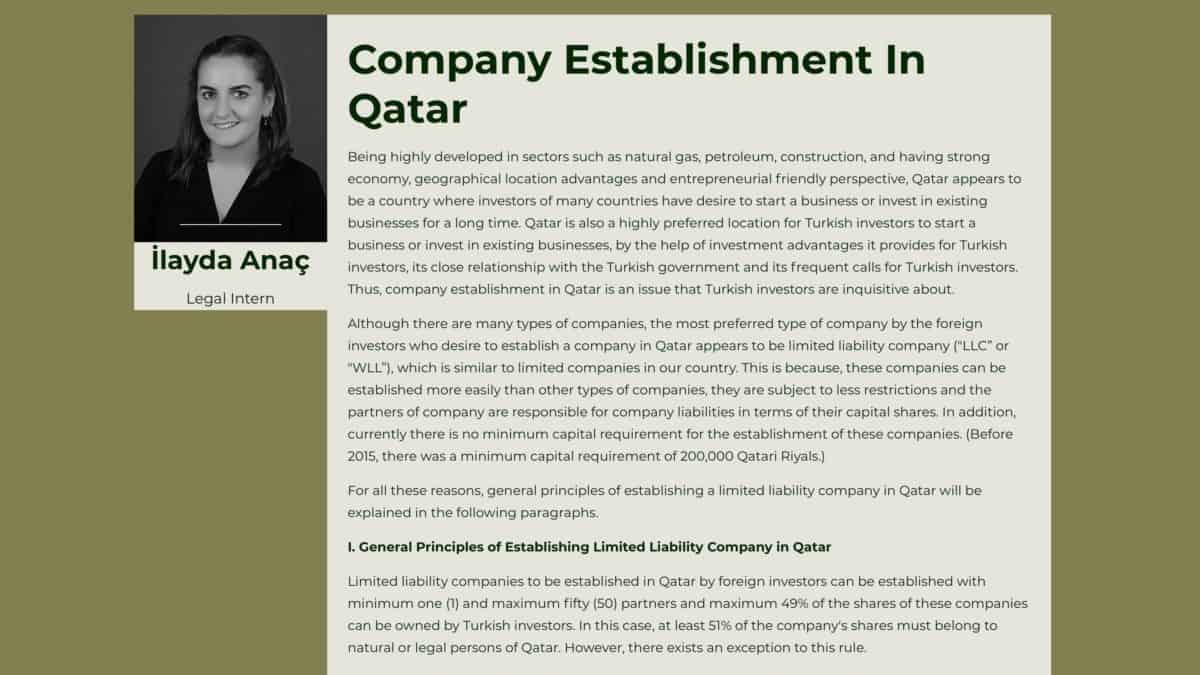 Company Establishment In Qatar