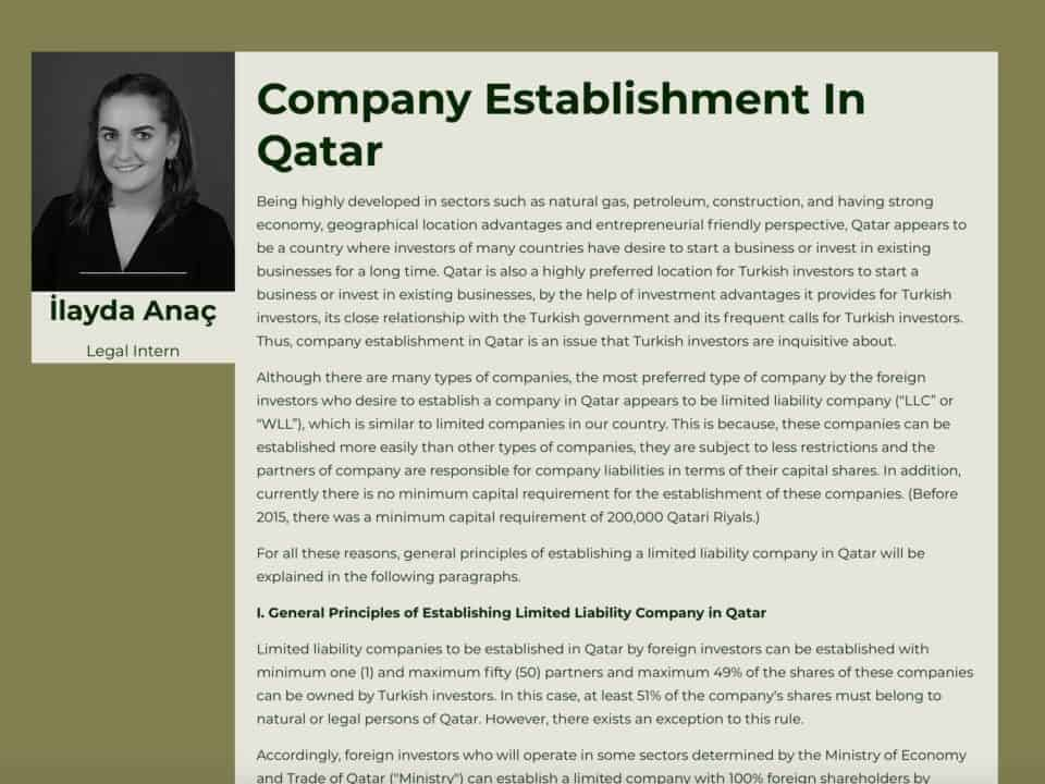 Company Establishment In Qatar