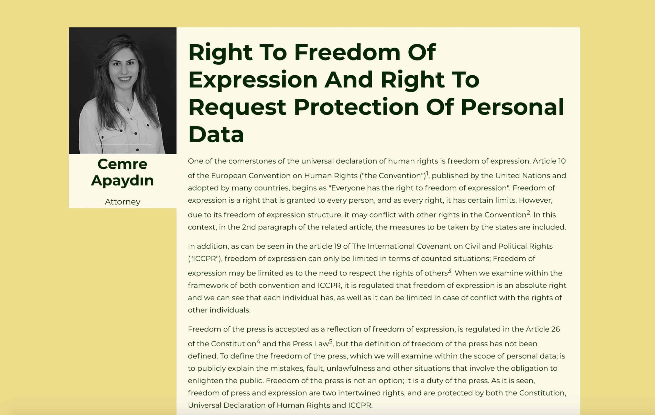 Right To Freedom Of Expression And Right To Request Protection Of Personal Data