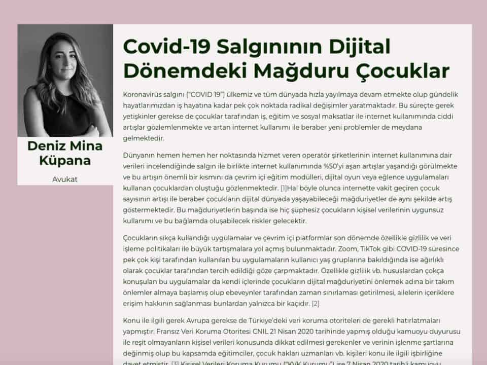 Covid-19 Salgınının Dijital Dönemdeki Mağduru Çocuklar